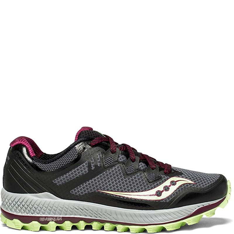 authorized site excellent quality meet Saucony Women's Peregrine 8 Running Shoe, Black/Mint, 10 B(M) US ...