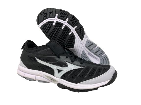 Turf Baseball Shoes, Black/White