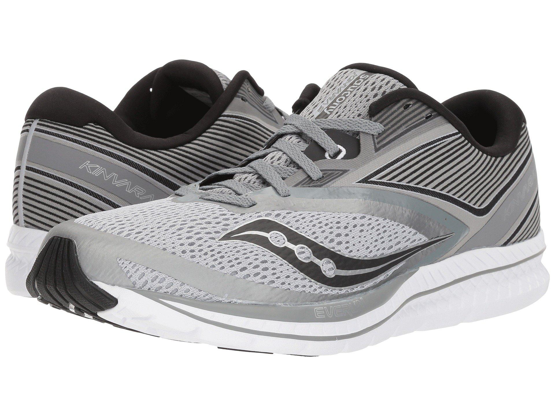 3c7c0a45ae Details about Saucony Men's Kinvara 9 Running Shoe, Grey/Black, 9.5 D(M) US