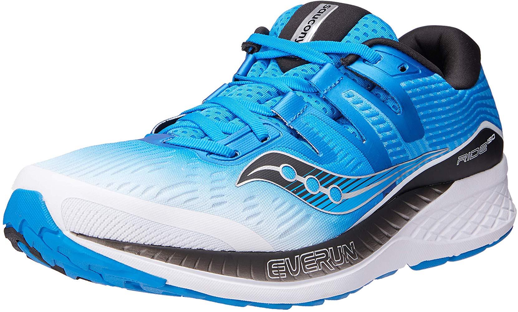 Saucony Men/'s Ride ISO Running Shoe M 12 D US White//Black//Blue