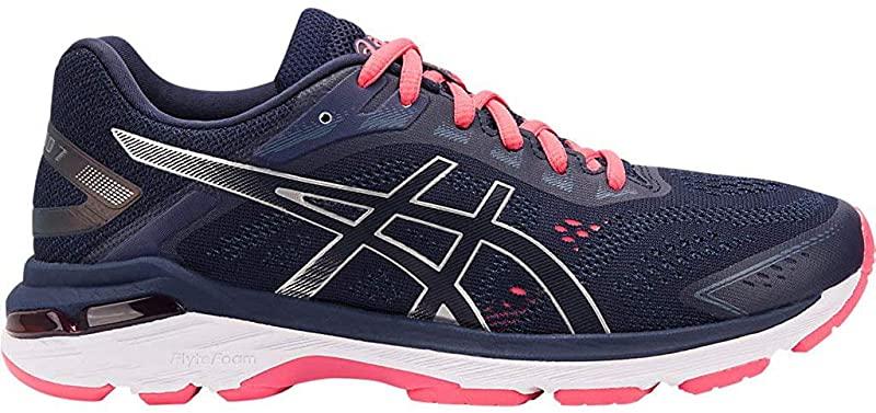 ASICS GT-2000 7 Women's Running Shoe, Peacoat/Silver, 6.5 2A(N) US ...