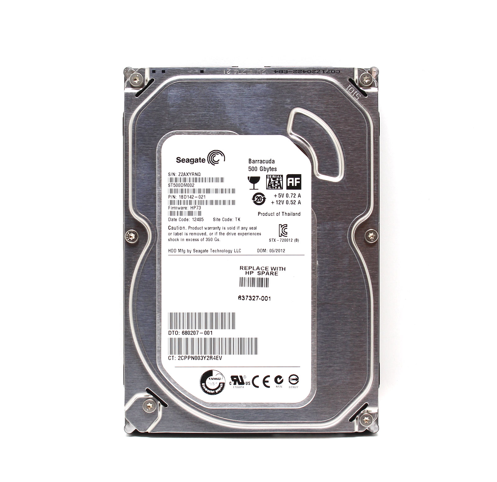 SecurePac Hard Drive 500GB HDD System Pull