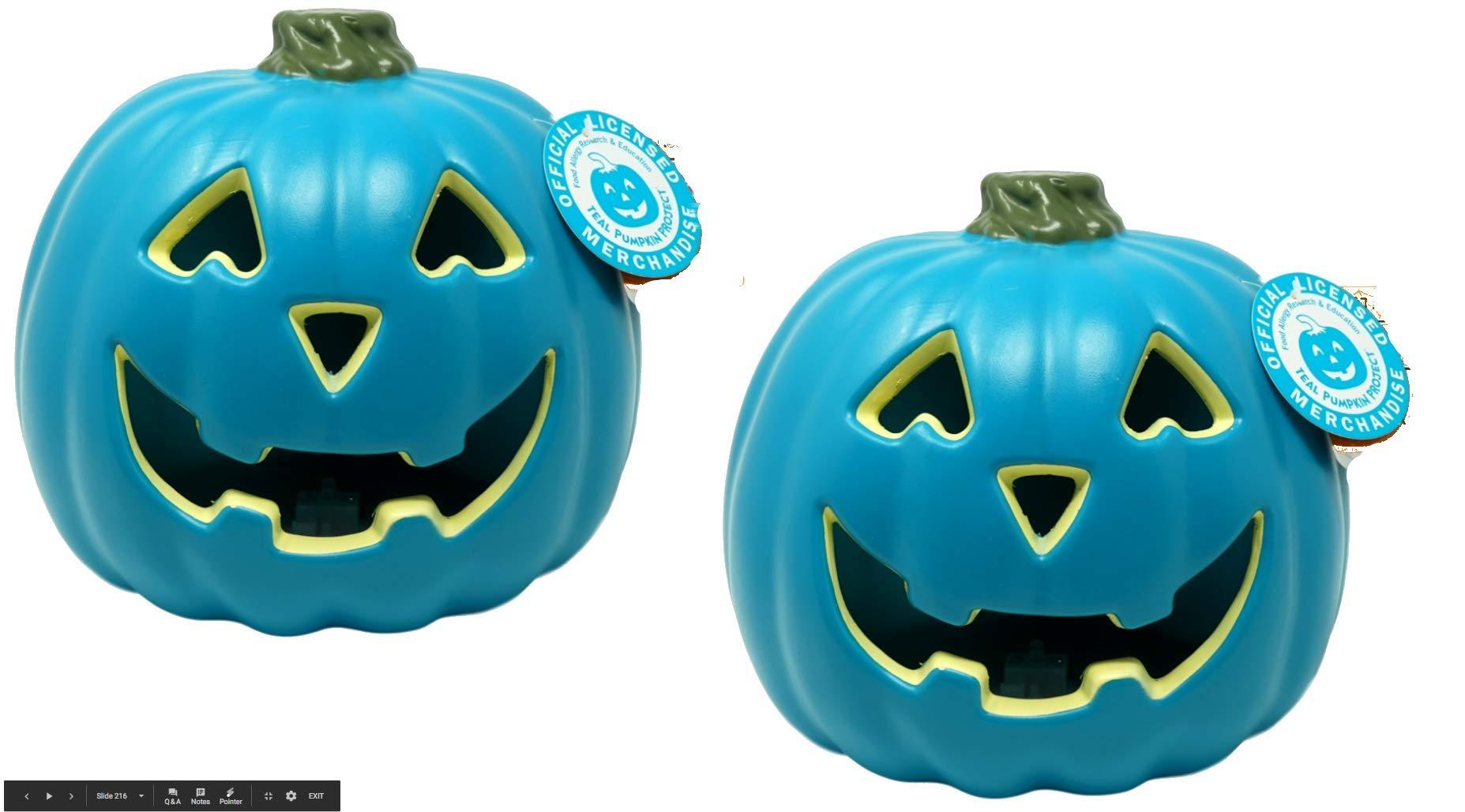 Teal Pumpkin Jack O Lantern 2 Pack 725512337320 Ebay