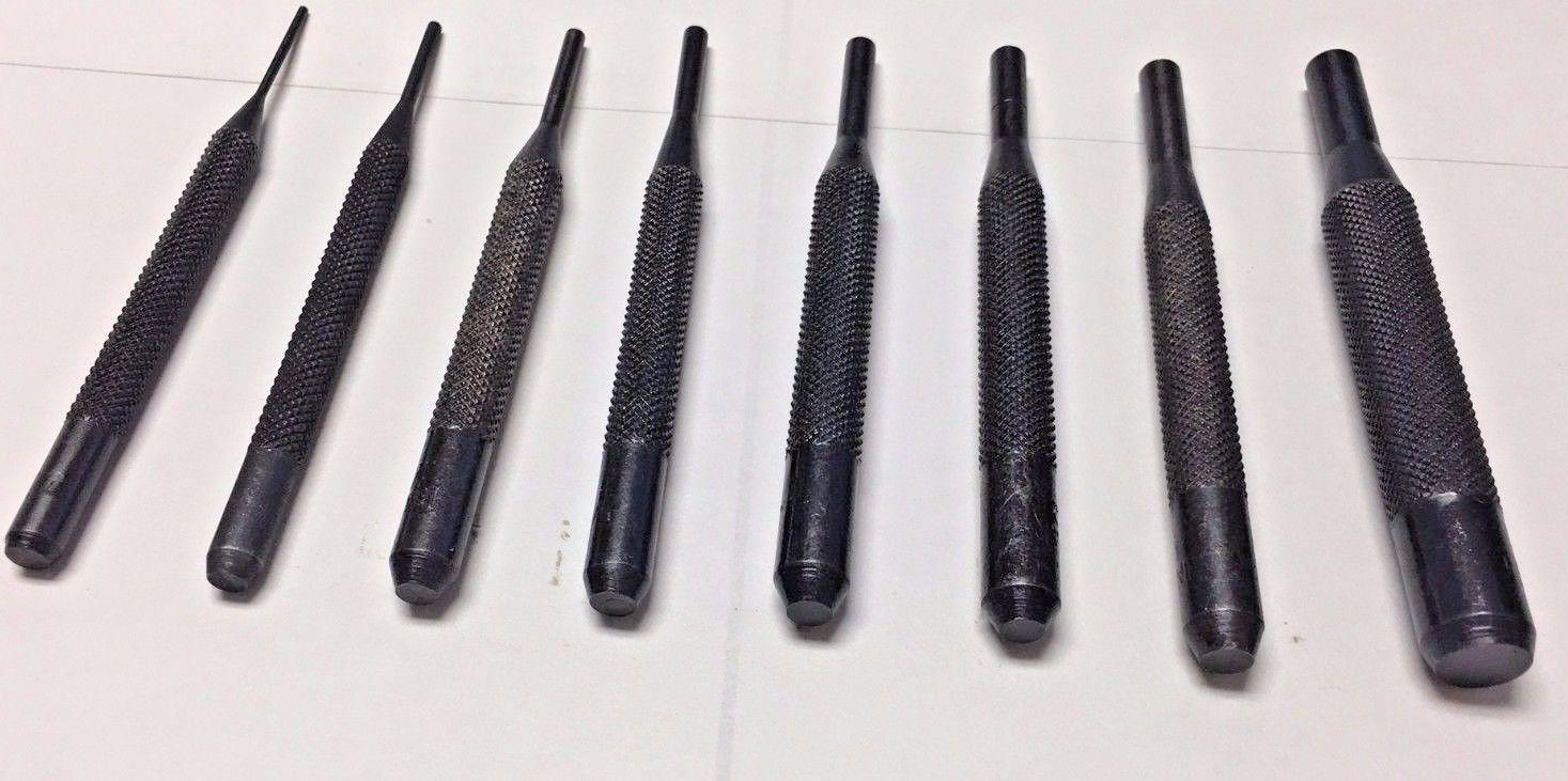 Hollow Punch Set 8 Pc holes W// precision ground flutes cutting edges