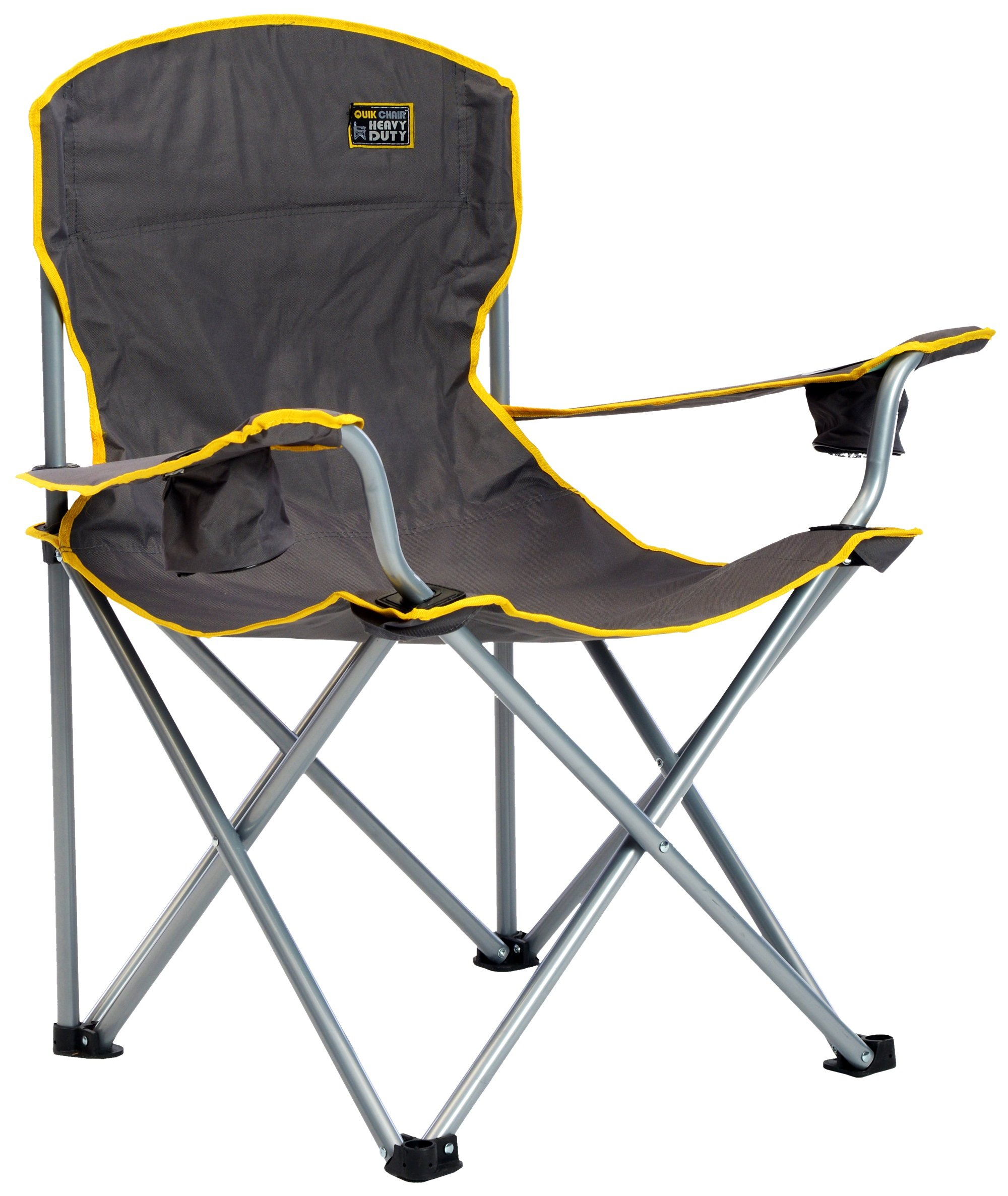 Details About Quikshade 150239 Quik Chair Heavy Duty Folding Camp Chair Grey