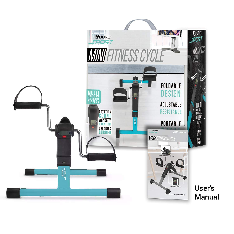 Aduro Sport Foldable Pedal Exerciser Stationary Under