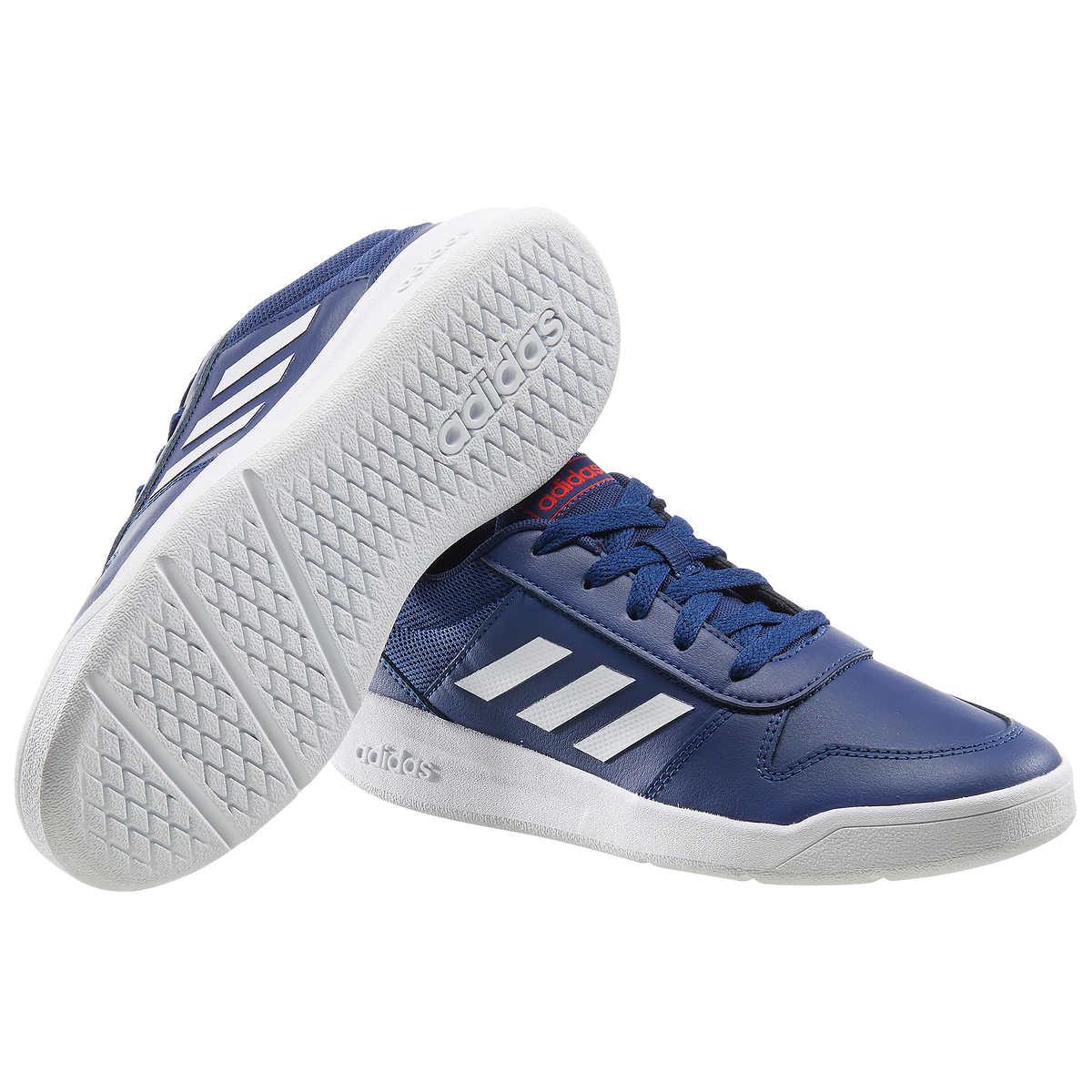 Details about Adidas Boys Tensaur Navy Tennis Shoes