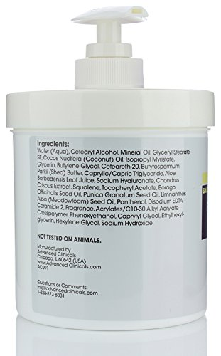 Advanced-Clinicals-Spa-Size-Hyaluronic-Acid-Cream-Skin-Hydrating-16-Oz-454g thumbnail 3