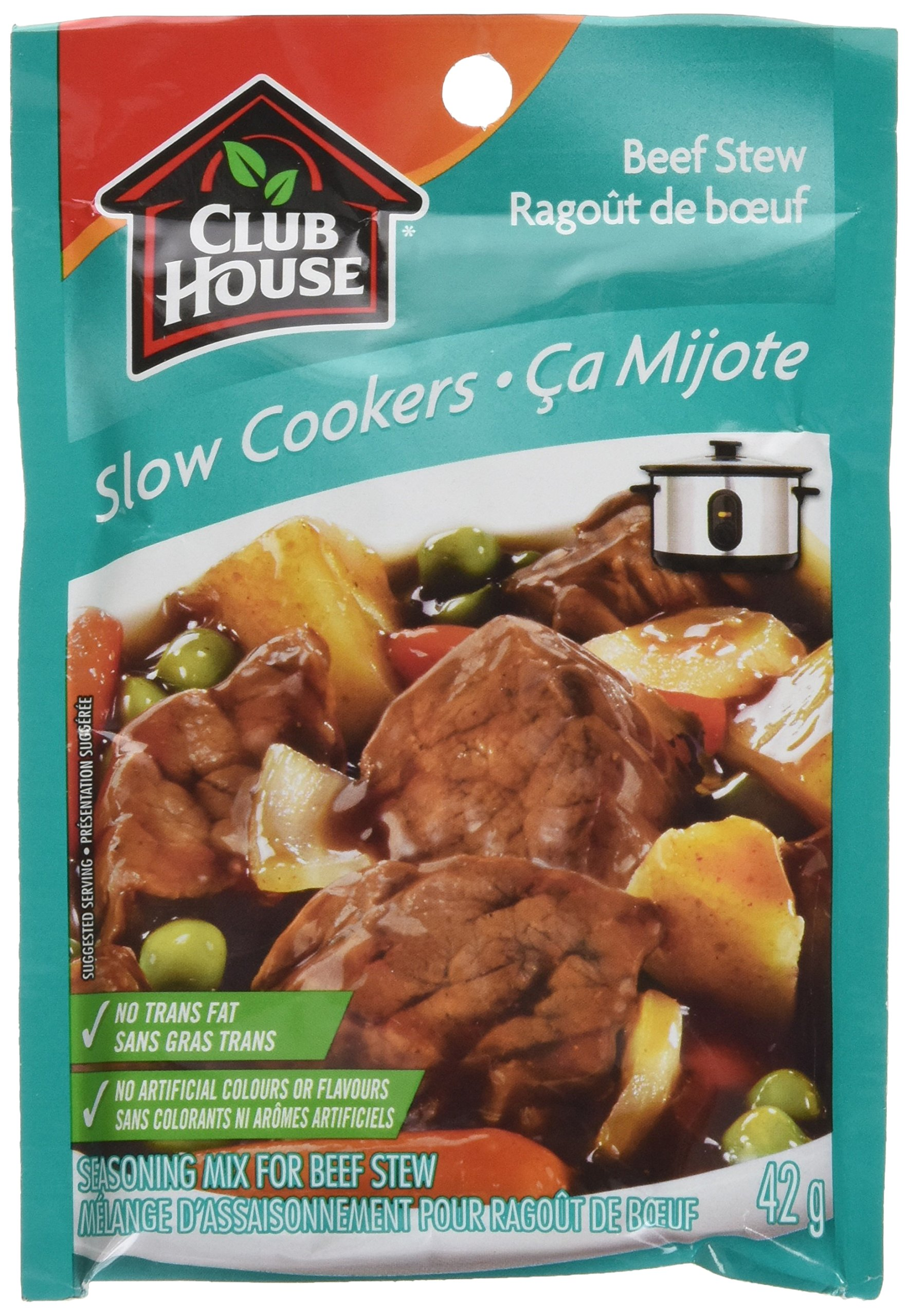 Club House Slow Cookers Beef Stew Seasoning Mix 42g 1 5oz Canadian 66200906511 Ebay