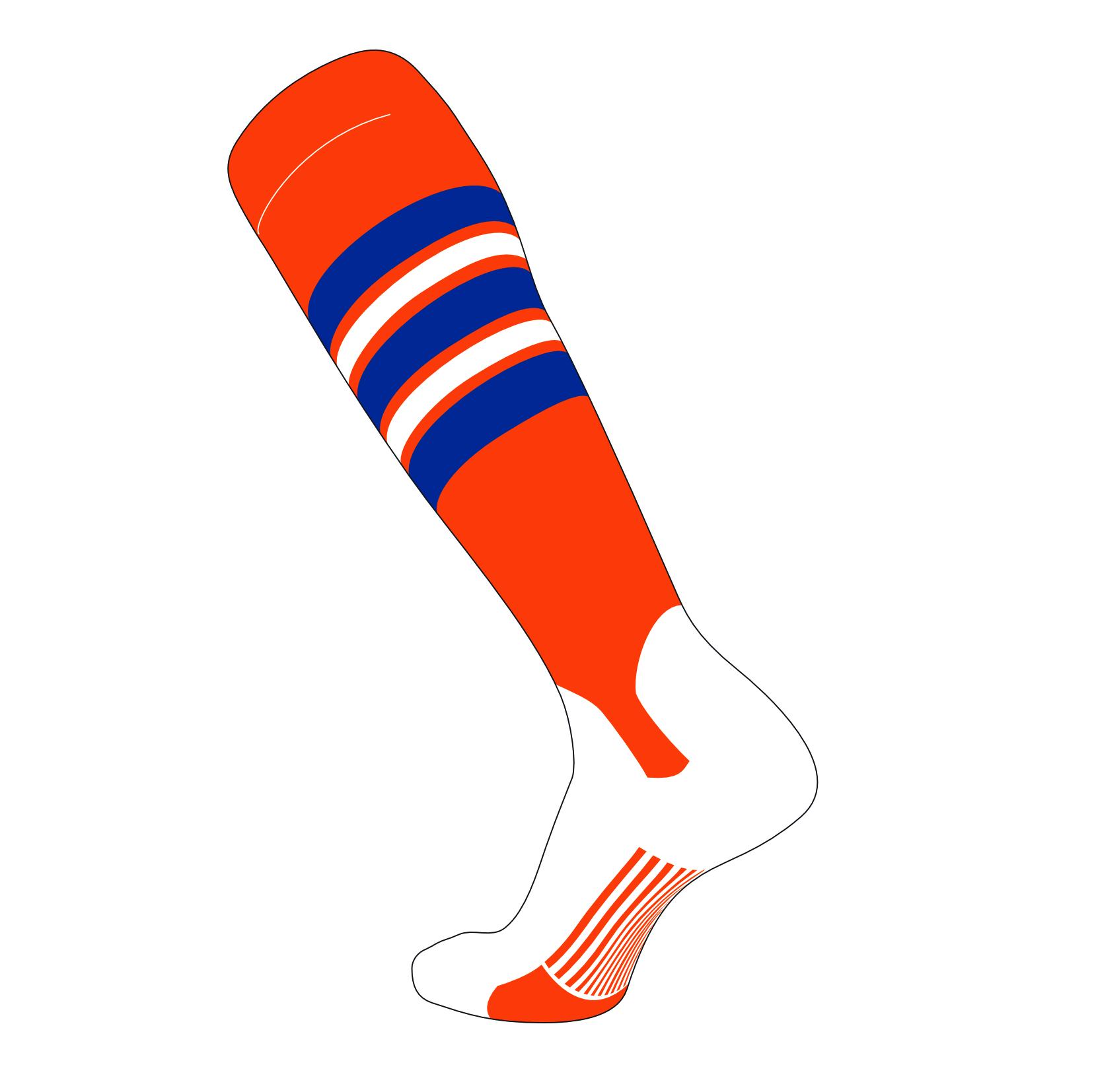 TCK Elite Baseball Knee High Stirrup Socks Black C, 5in Orange