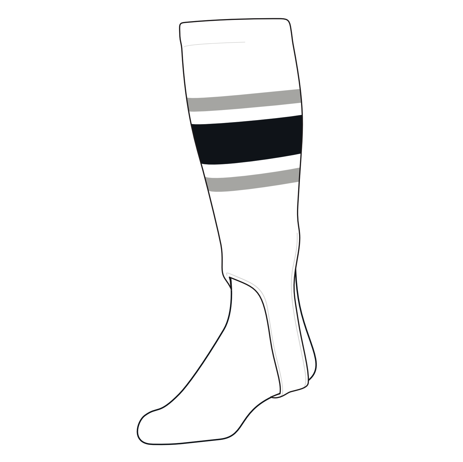 200G, 5in Navy TCK Baseball Stirrups Medium White Red