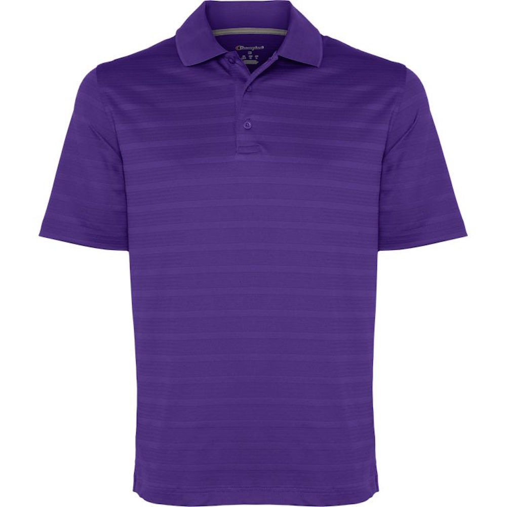 Champion-Men-039-s-Textured-Stripe-Polo-Athletic-Casual-Loose-Fit-Golf-T-Shirt thumbnail 11