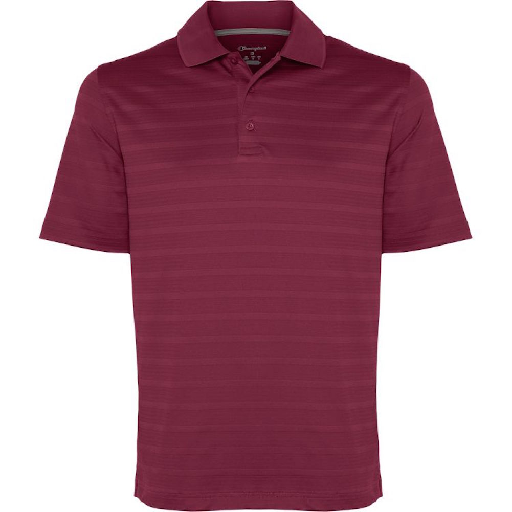 Champion-Men-039-s-Textured-Stripe-Polo-Athletic-Casual-Loose-Fit-Golf-T-Shirt thumbnail 6