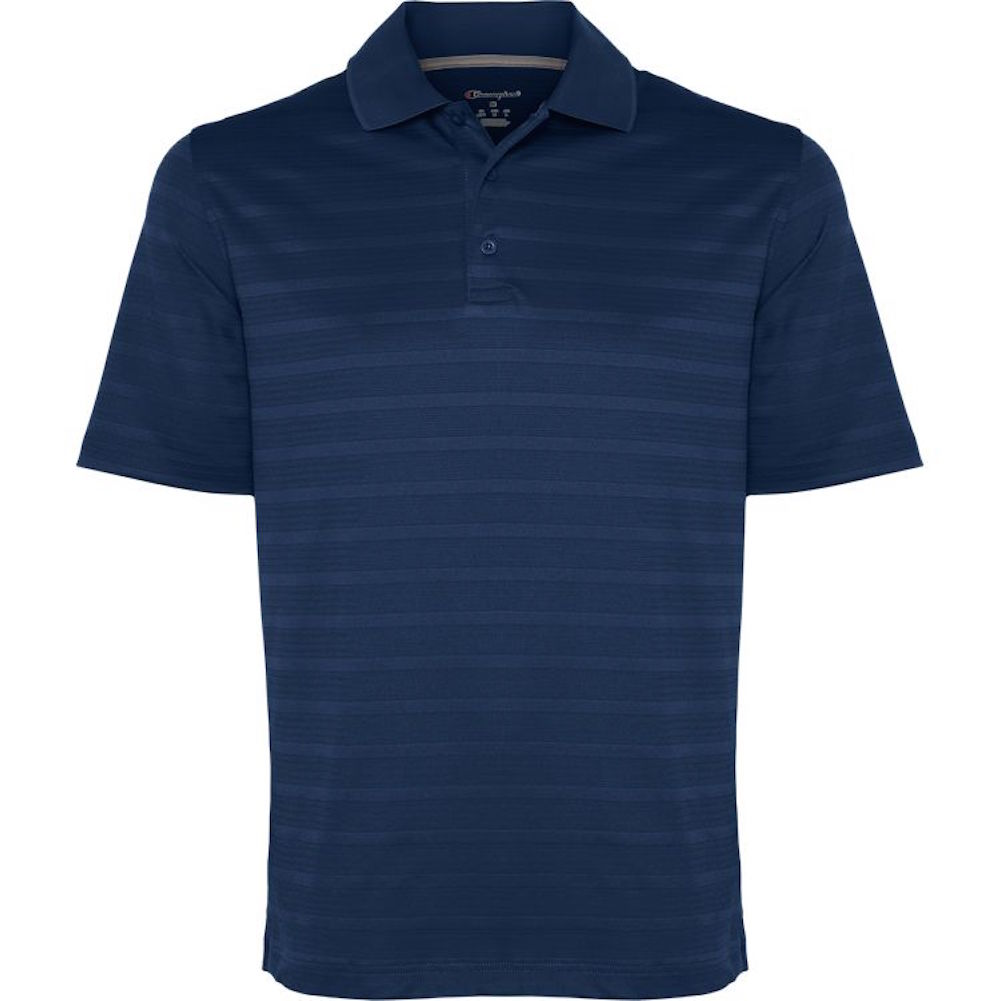 Champion-Men-039-s-Textured-Stripe-Polo-Athletic-Casual-Loose-Fit-Golf-T-Shirt thumbnail 9