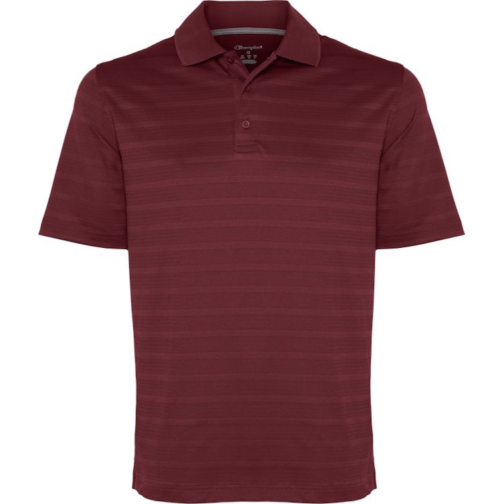 Champion-Men-039-s-Textured-Stripe-Polo-Athletic-Casual-Loose-Fit-Golf-T-Shirt thumbnail 8