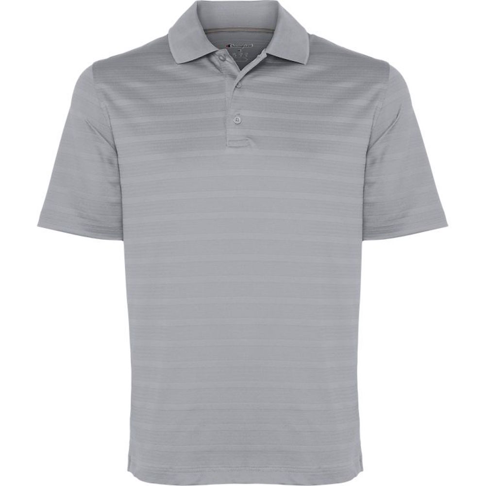 Champion-Men-039-s-Textured-Stripe-Polo-Athletic-Casual-Loose-Fit-Golf-T-Shirt thumbnail 14