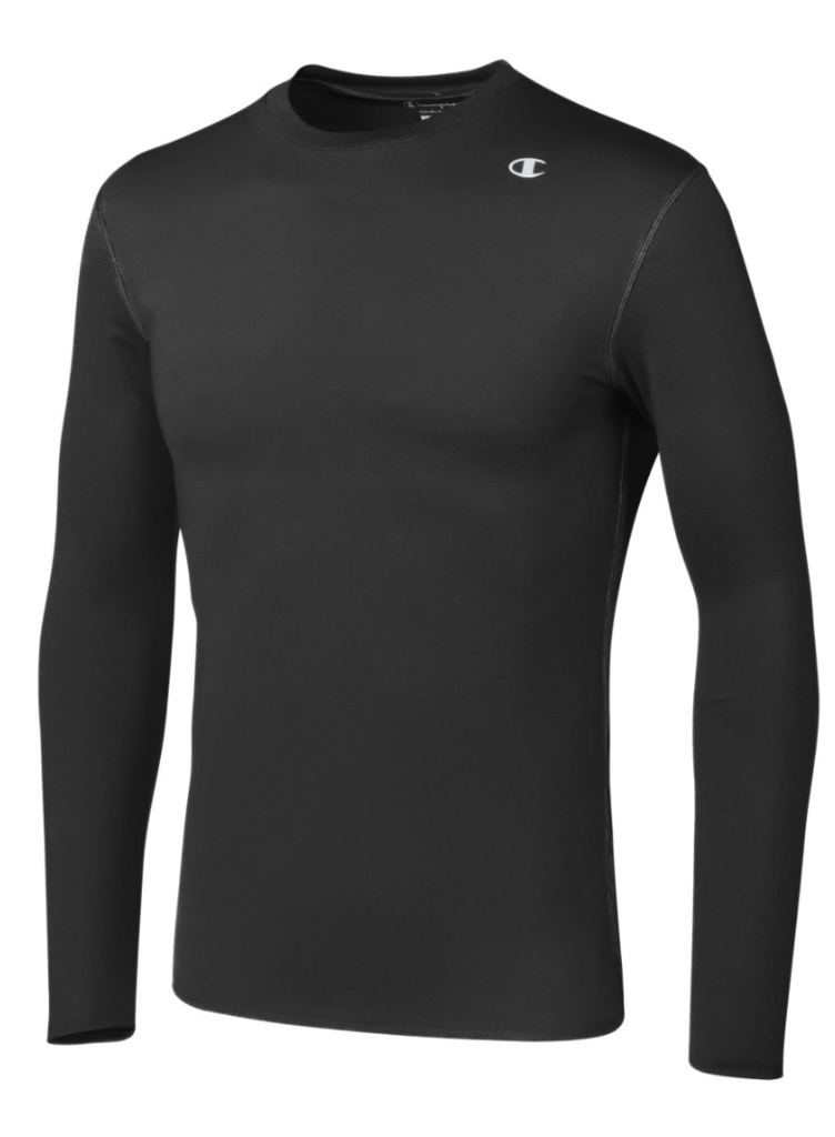 Champion-Men-039-s-Double-Dry-Compression-T-Shirt-Long-Sleeve-Athletic-Baselayer-Tee thumbnail 4