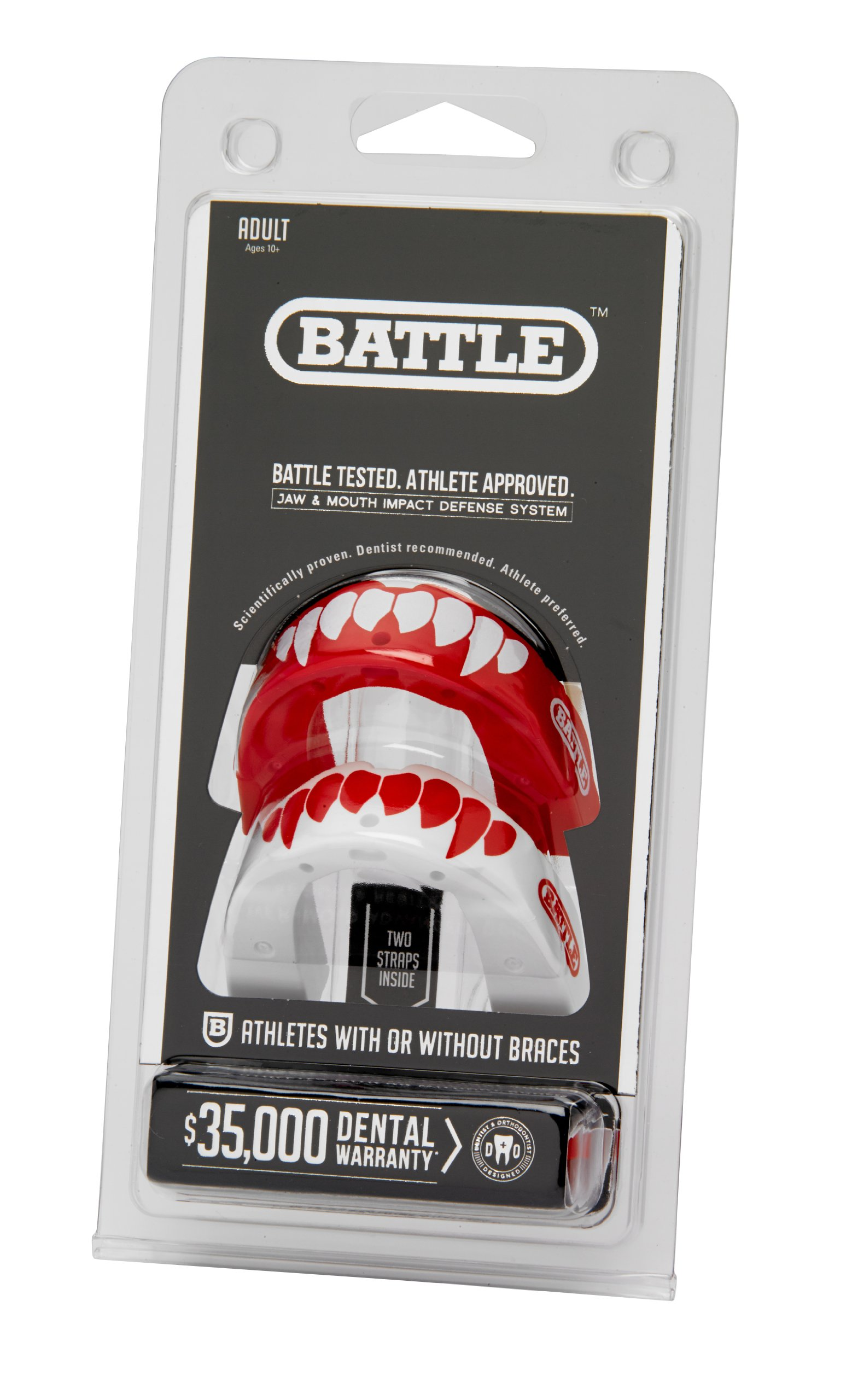 Battle Sports Science Fang-Edition Mouth Guard 2-Pack