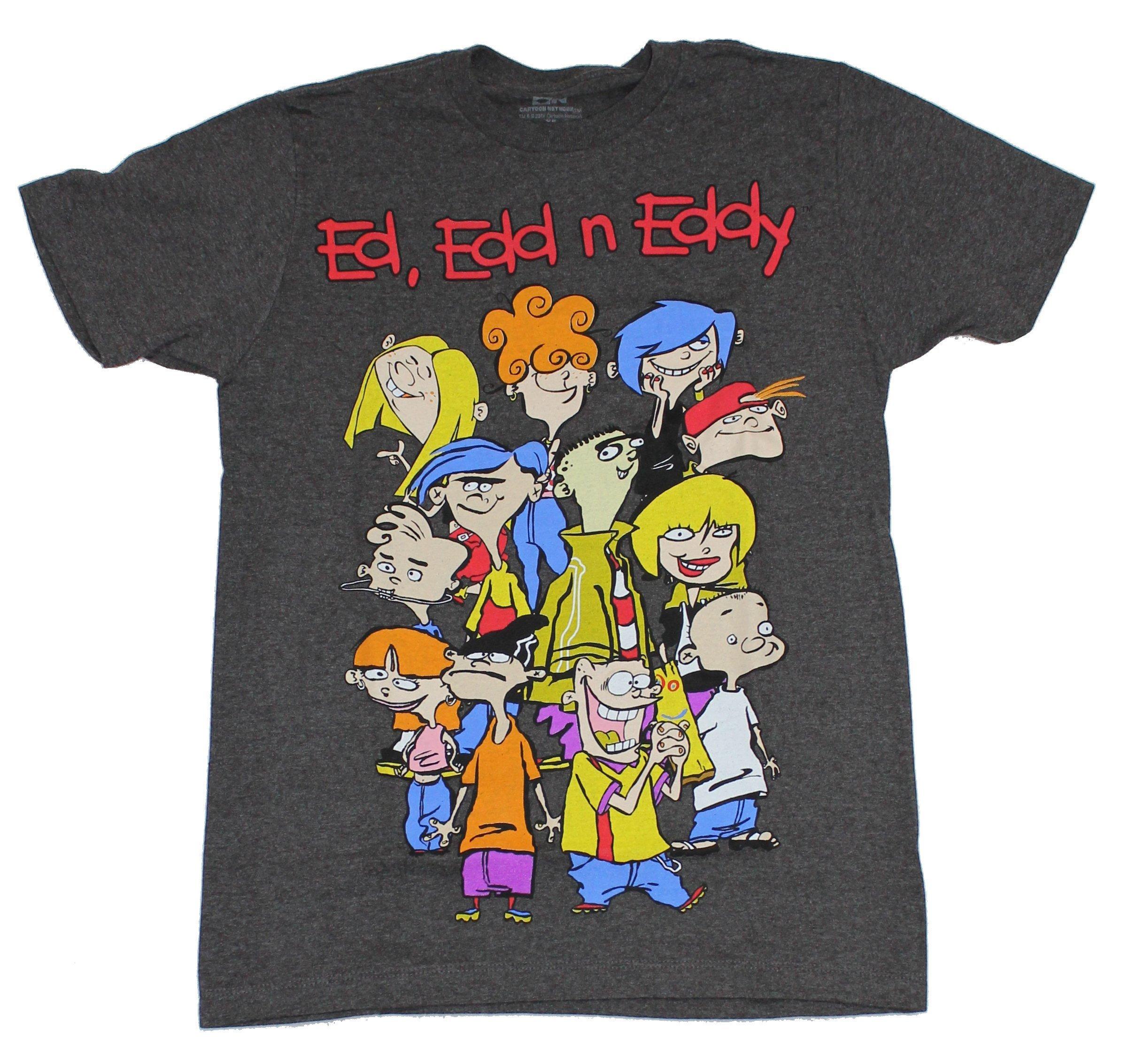 Edd n Eddy Eds On Bikes Gray Heather Adult T-Shirt Ed