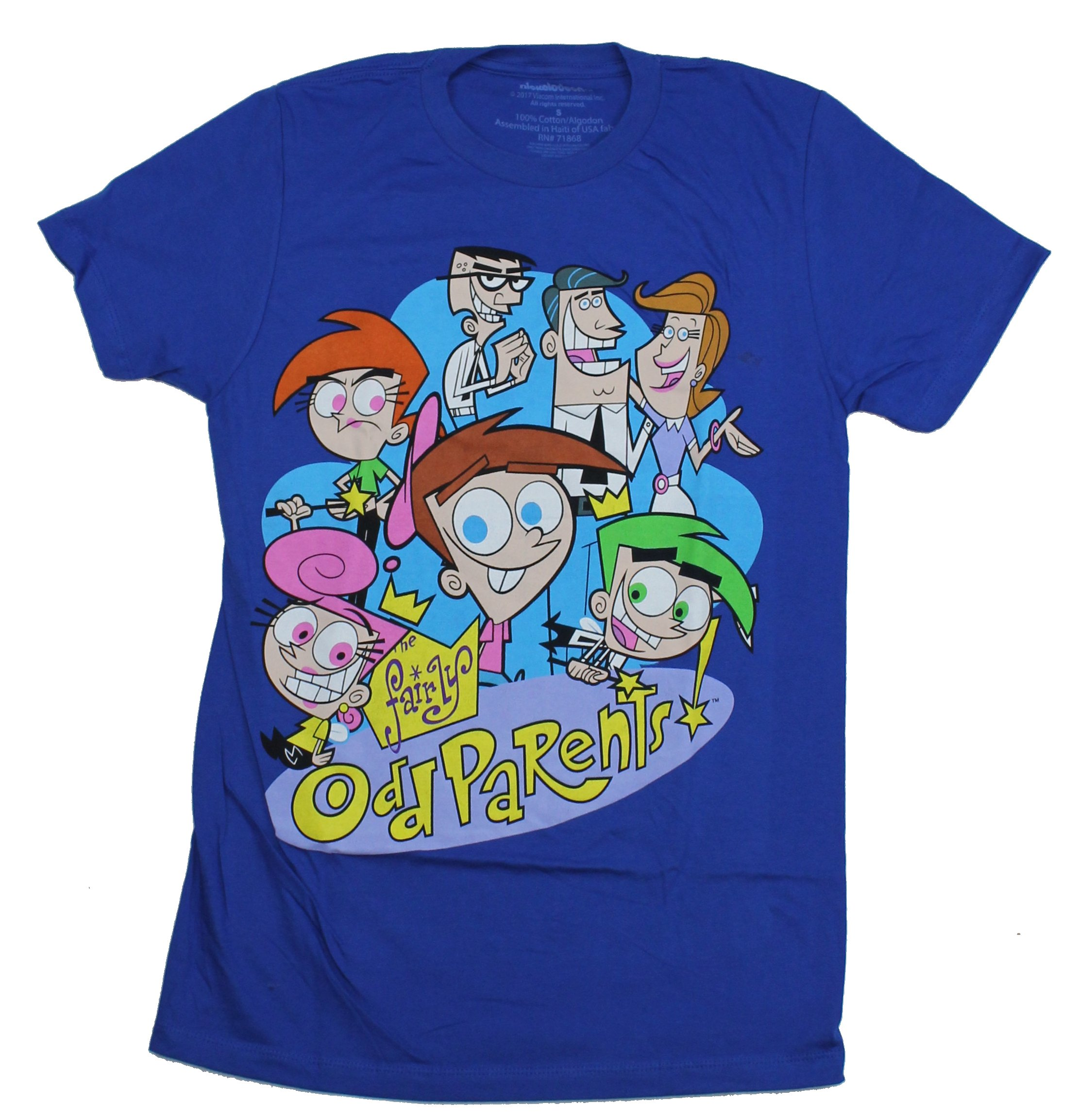Fairly Odd Parents Photos details about fairly odd parents mens t-shirt - giant cast image in logo
