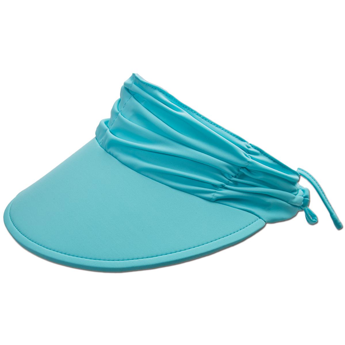 """Adjustable Tie Lightweight Packable Panama Jack Women/'s Sun Visor Hat 4/"""""""