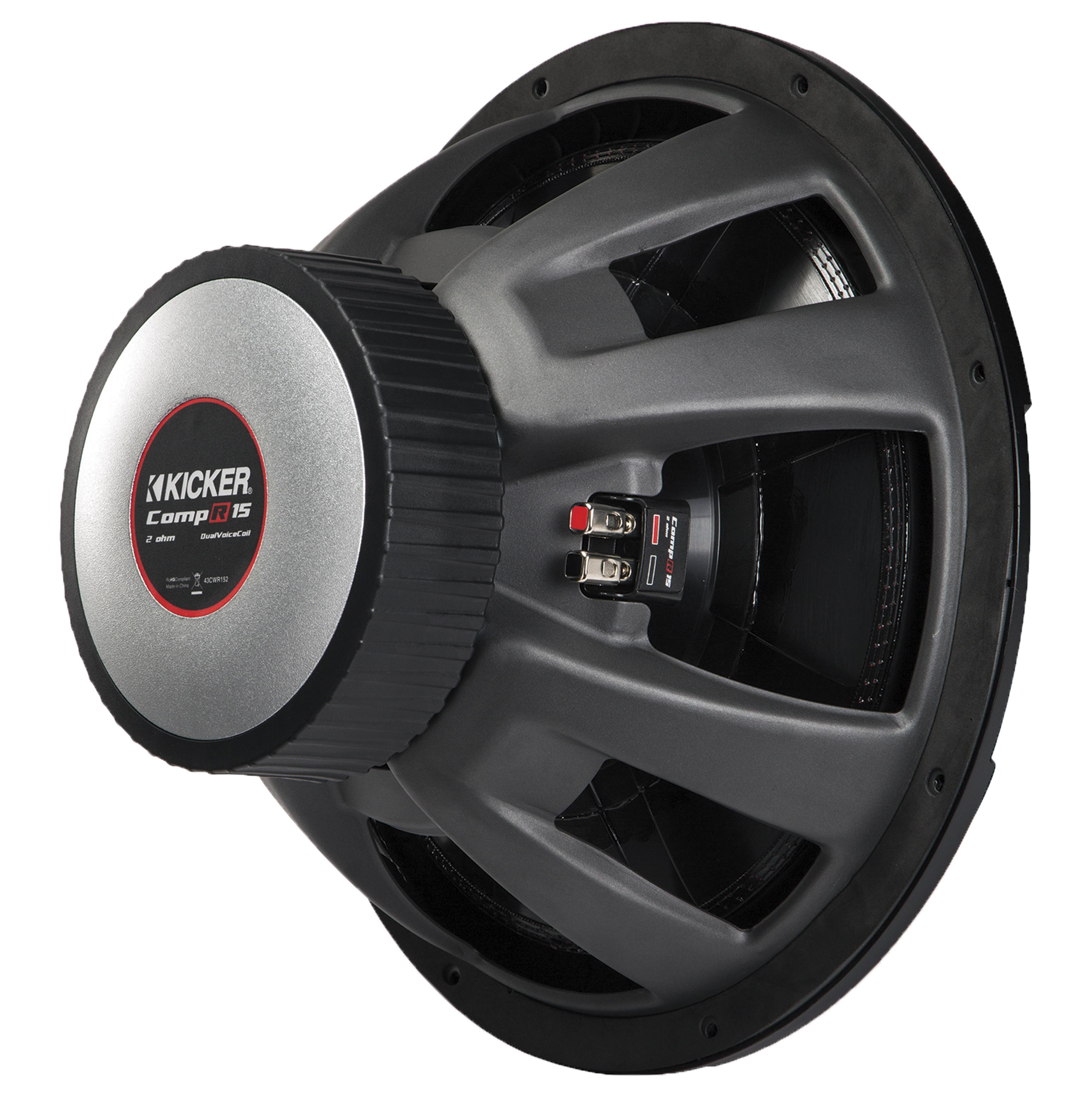 kicker compr comp r 12 dual 4 ohm voice coil car subwoofer. Black Bedroom Furniture Sets. Home Design Ideas