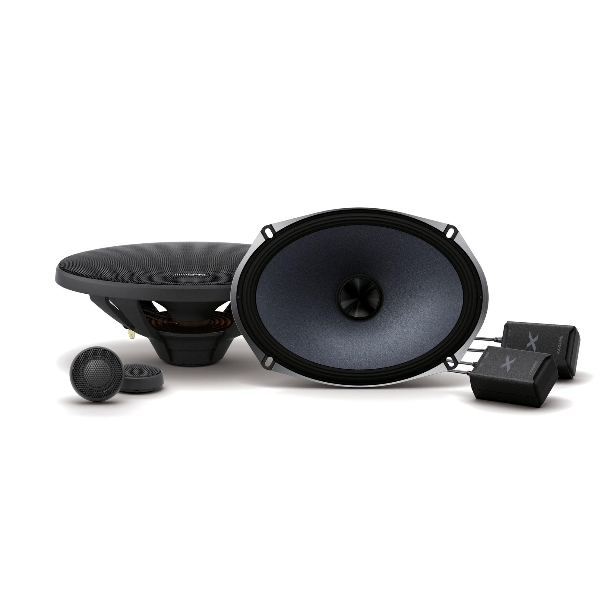 pair Alpine S-S69C S-Series 6x9-inch Component 2-Way Speakers