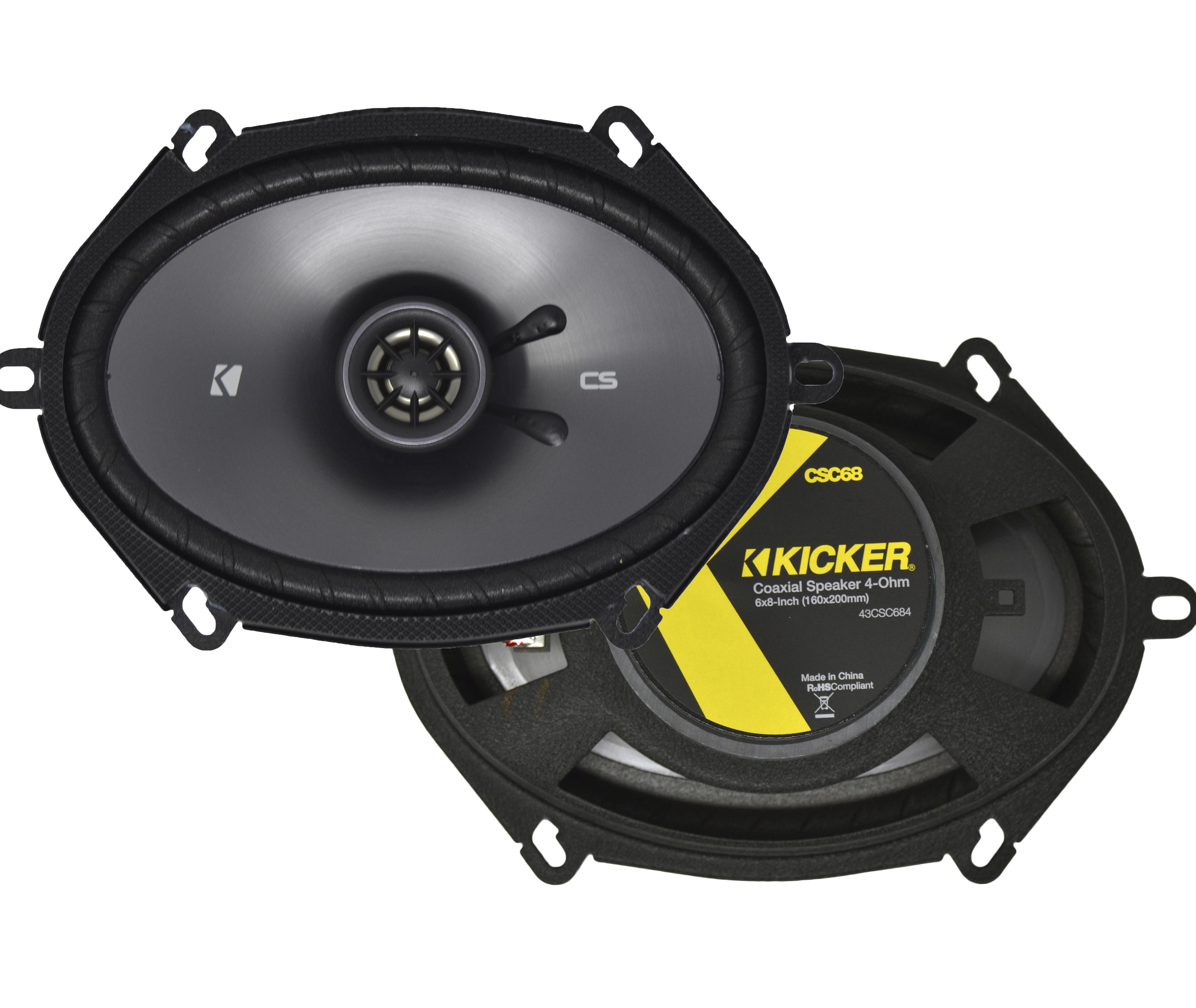 "Kicker CS Series 6x8/"" 2-Way 225W Car Audio Speakers 43CSC684 Pair CSC68"