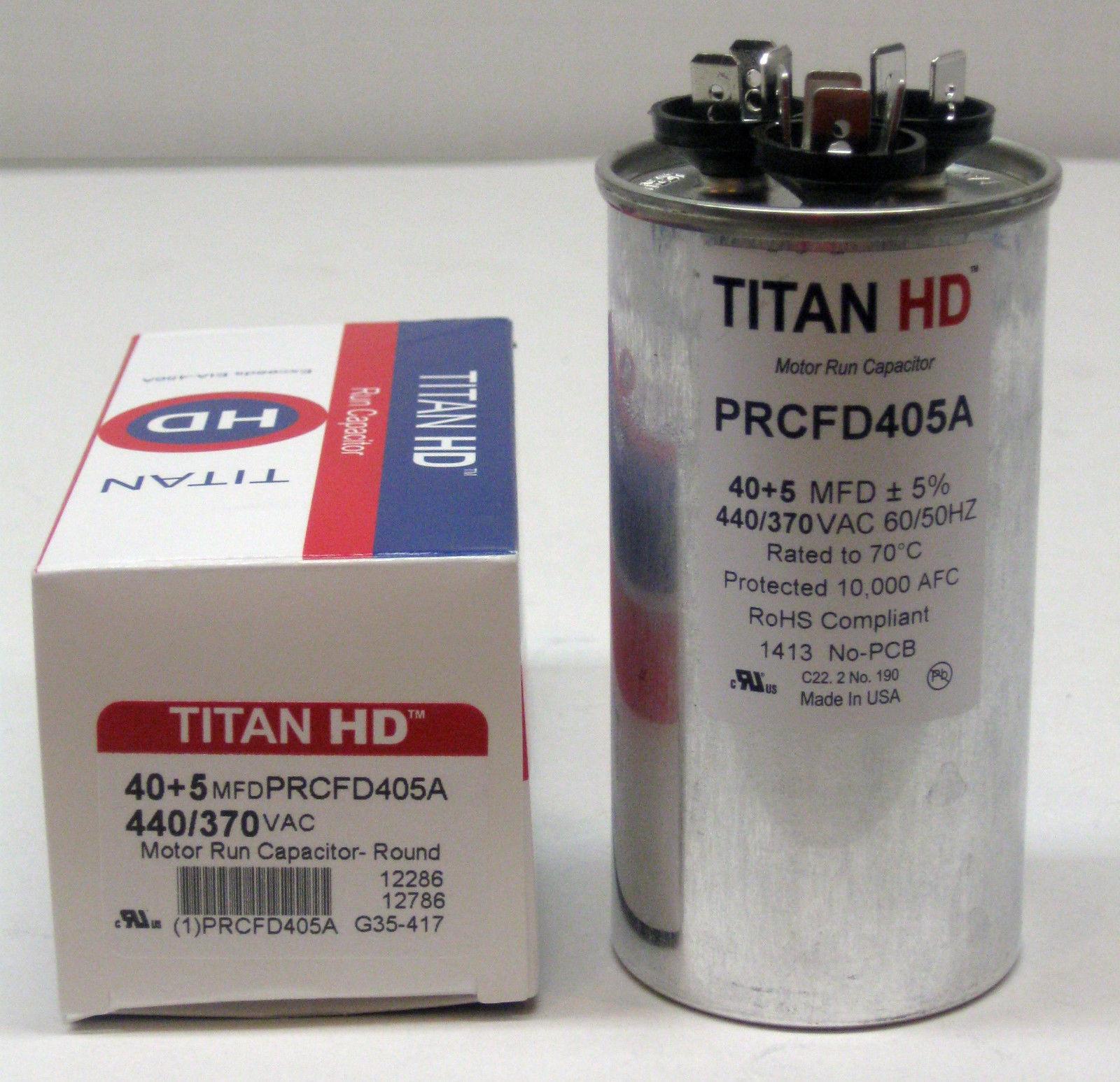 Titanhd Prcfd405a American Made Round Run Dual Capacitor