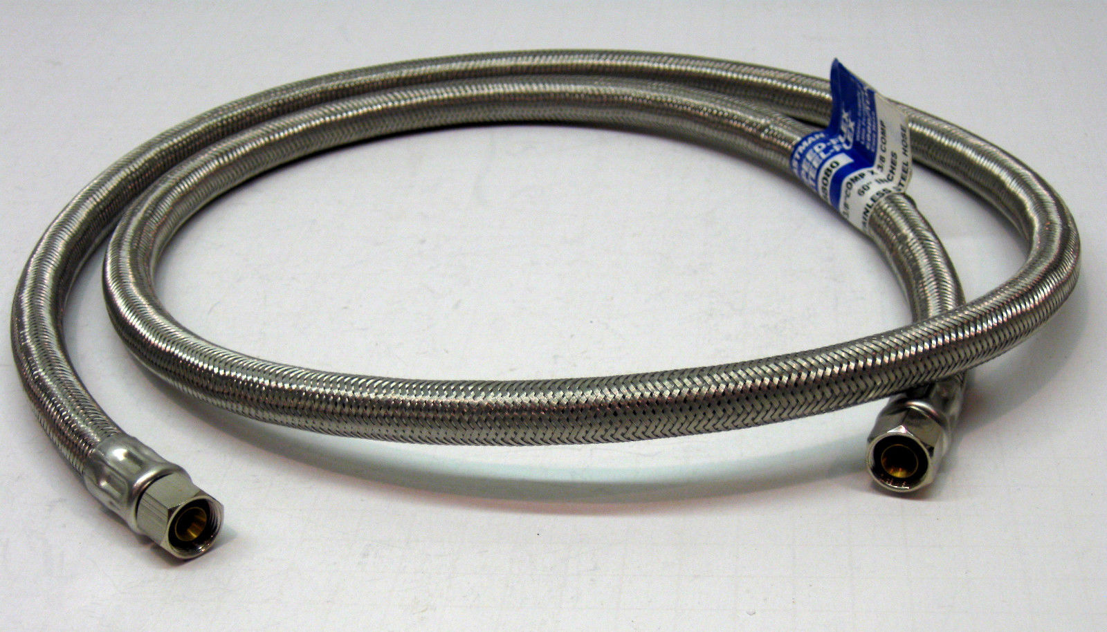 """48080 5/' 60/"""" Faucet Sink Connector Water Supply Line 3//8 x 3//8 compression USA"""