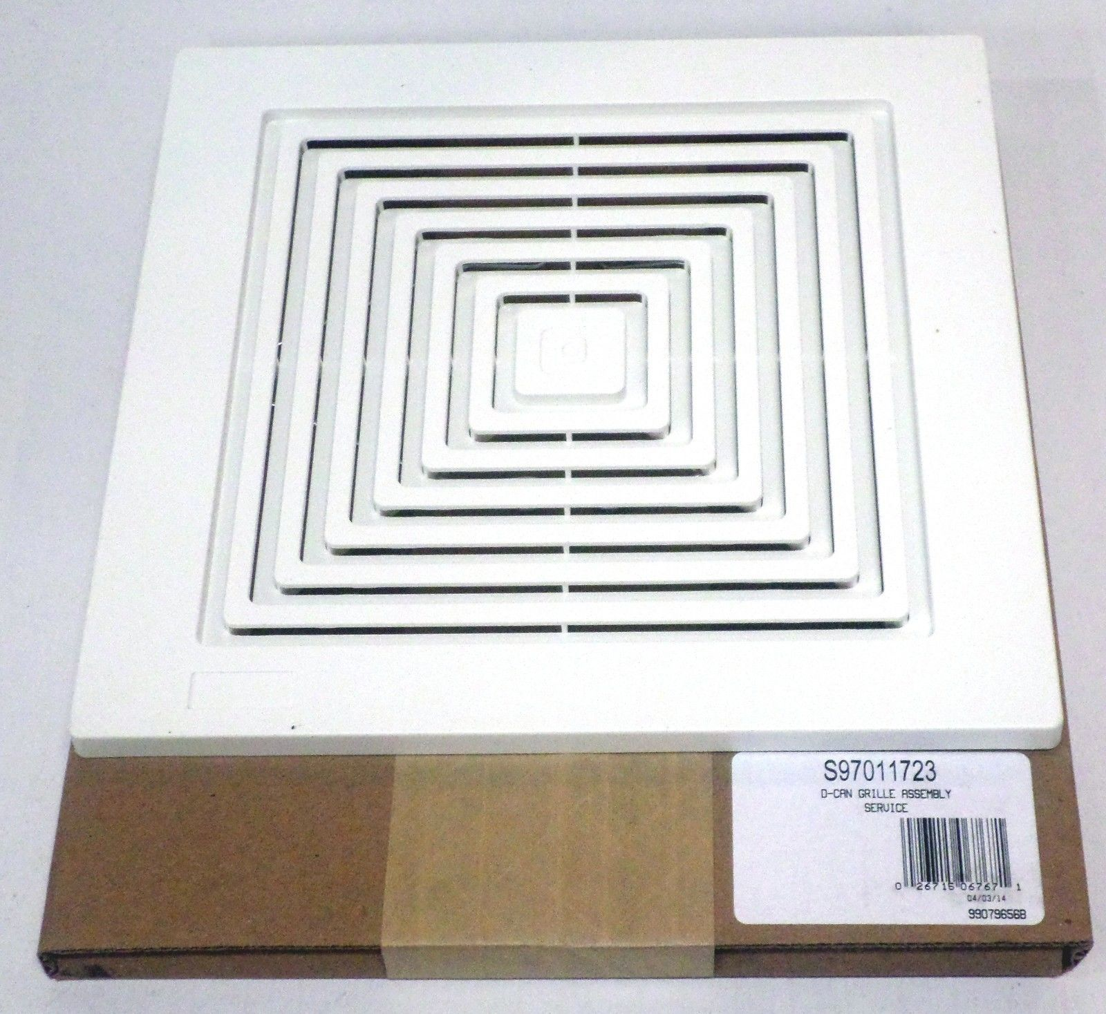 Details About Broan Nutone 97011723 Bath Bathroom Ceiling Fan Grille Grill Cover Plastic White