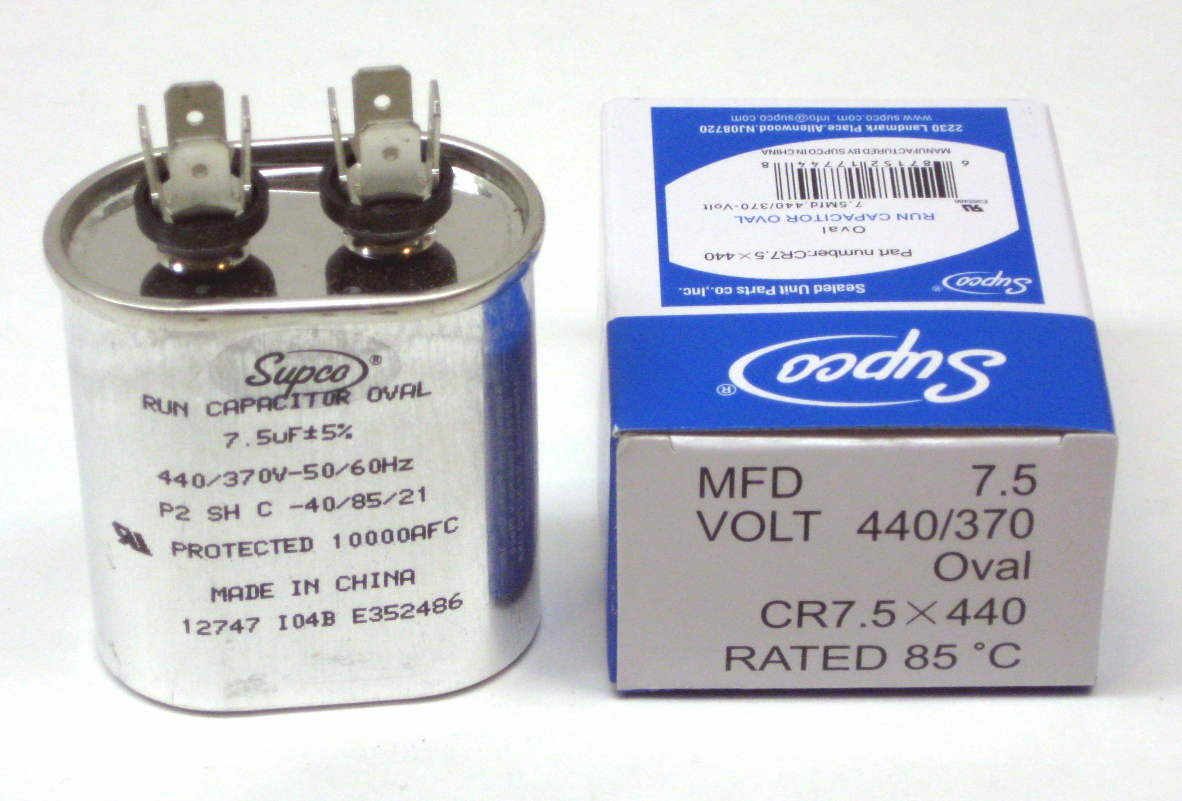 TitanPro TOCF30 HVAC Motor Run Oval Capacitor 30 MFD//UF 440//370 Volts