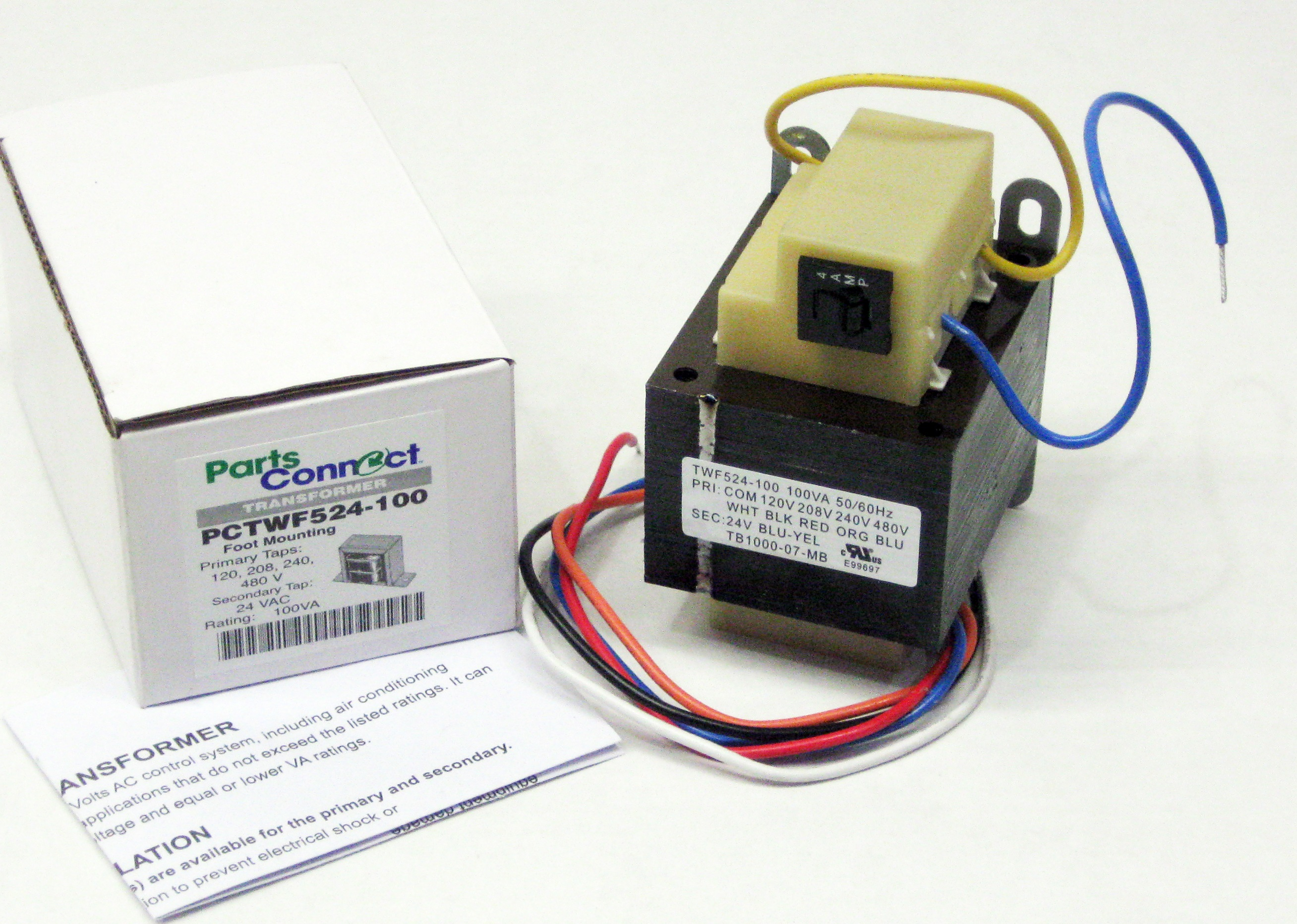 100va Transformer Primary 120v 208v 240v 480v Volt 24v
