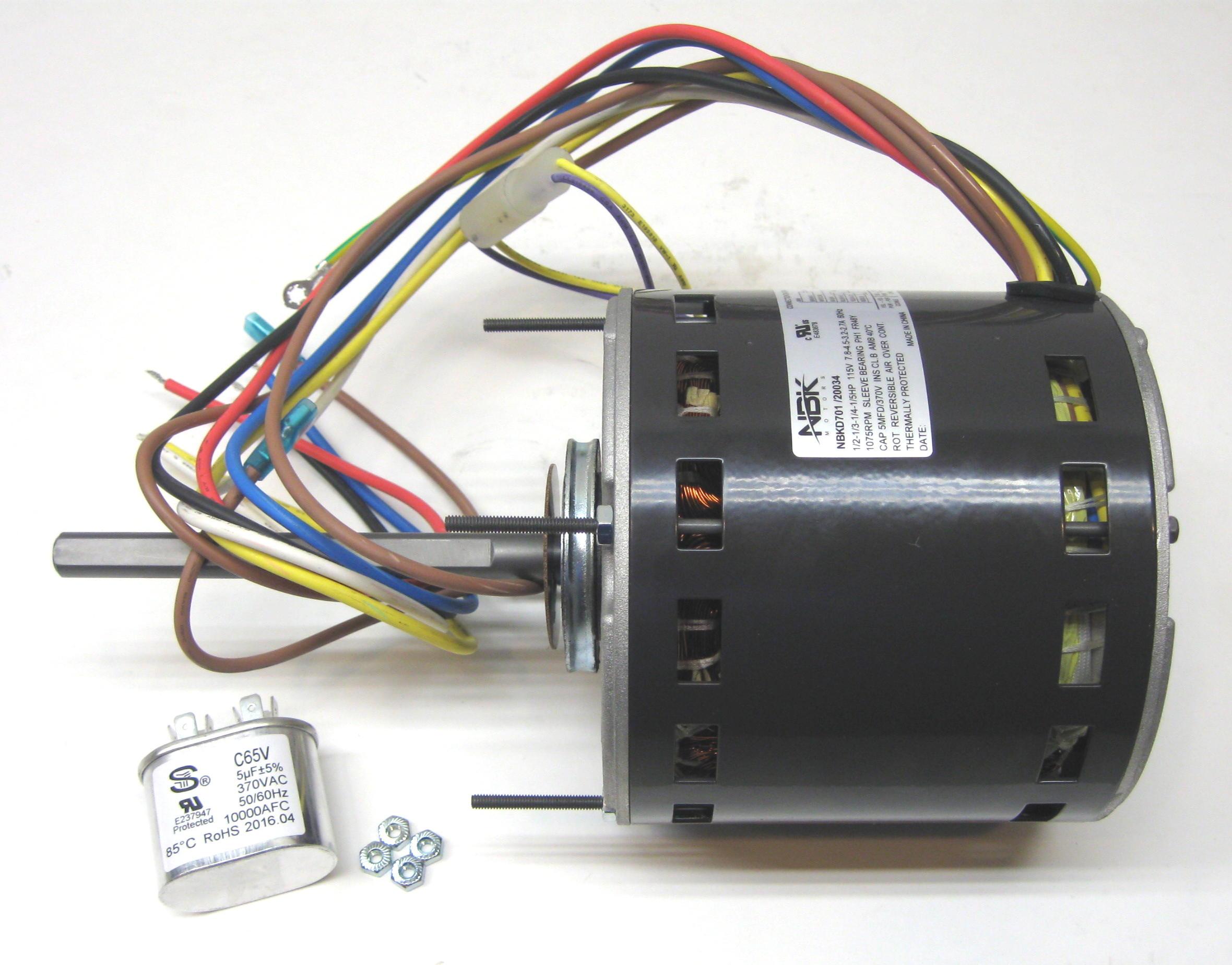Furnace Air Handler Blower Motor  U00bd Hp 1075 Rpm 115 Volts 4