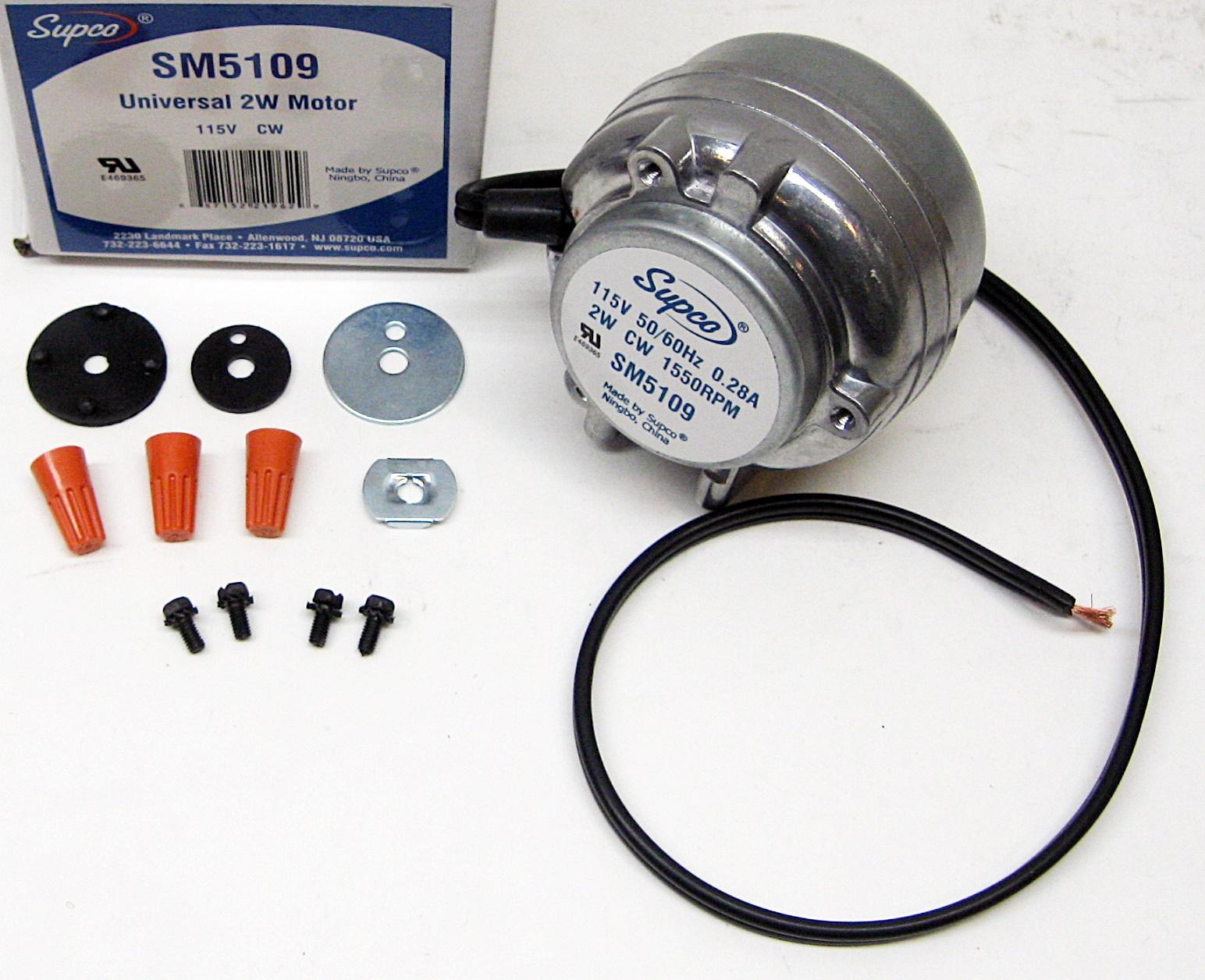 833697 Whirlpool Kenmore Refrigerator Condensor Fan Motor 833697