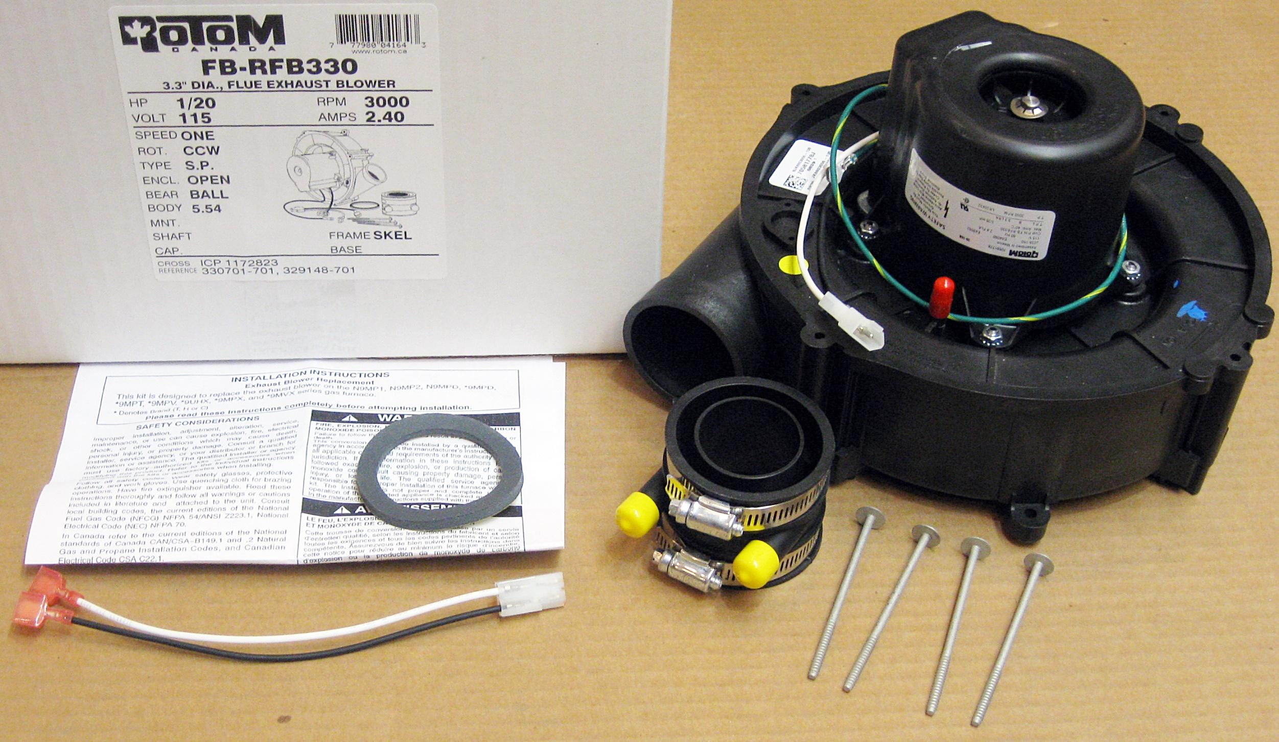Furnace Draft Inducer Motor For Heil Tempstar 1172823