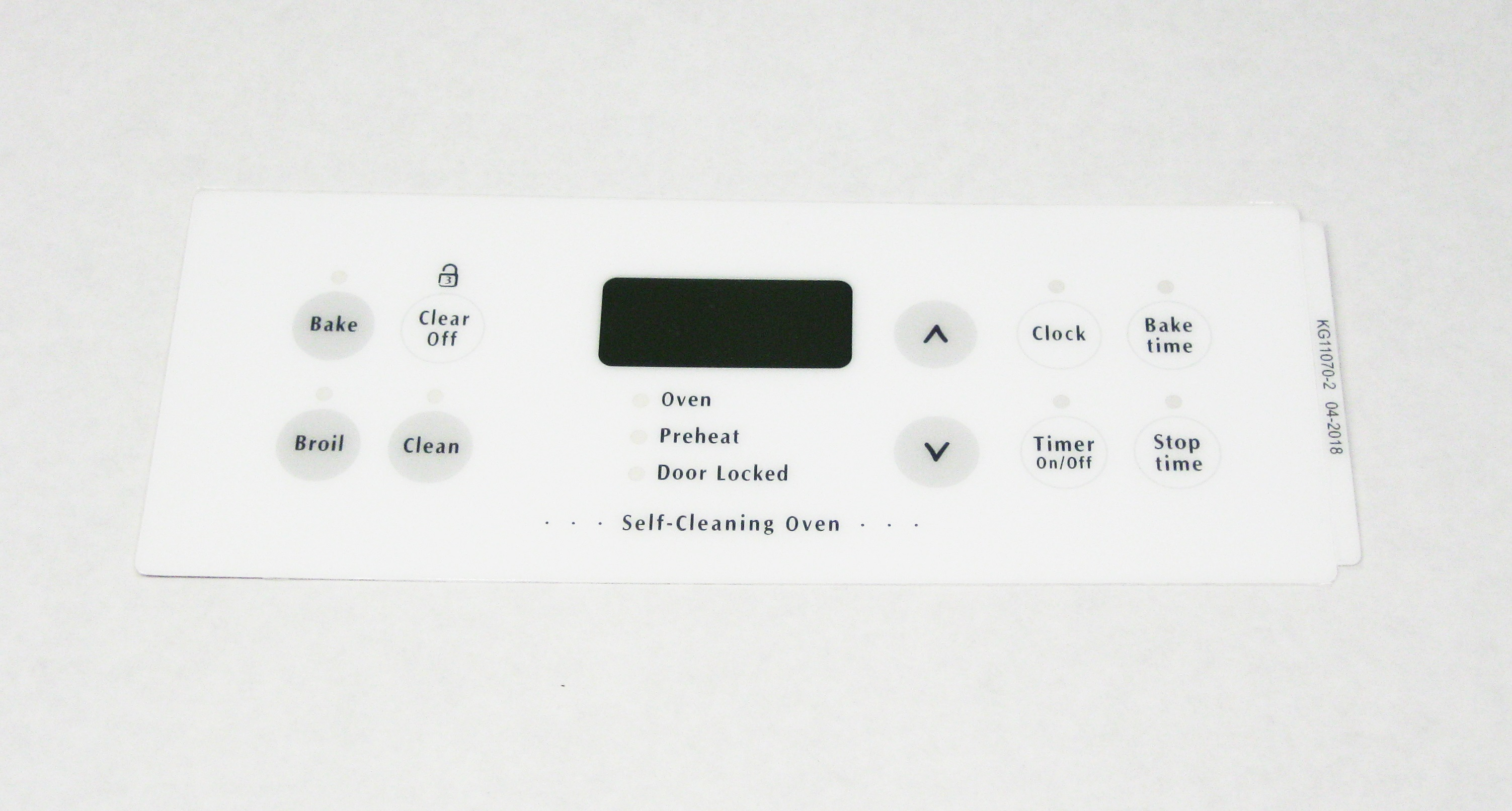 Oven Clock Overlay Pad 316220804 for Electrolux Frigidaire ERC Range Control