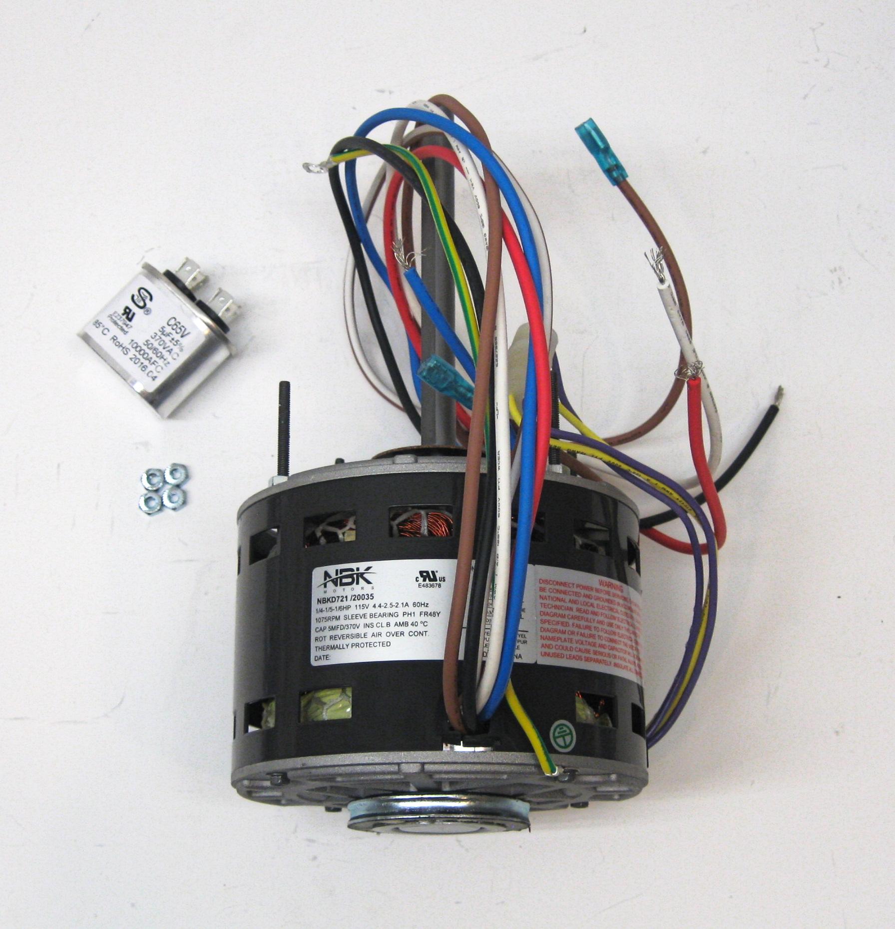 Furnace Air Handler Blower Motor 1  4 Hp 1075 Rpm 115 Volt