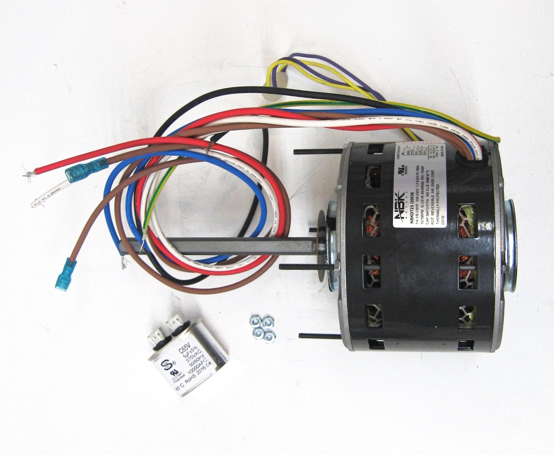 Furnace Air Handler Blower Motor 1  4 Hp 1075 Rpm 230 Volt