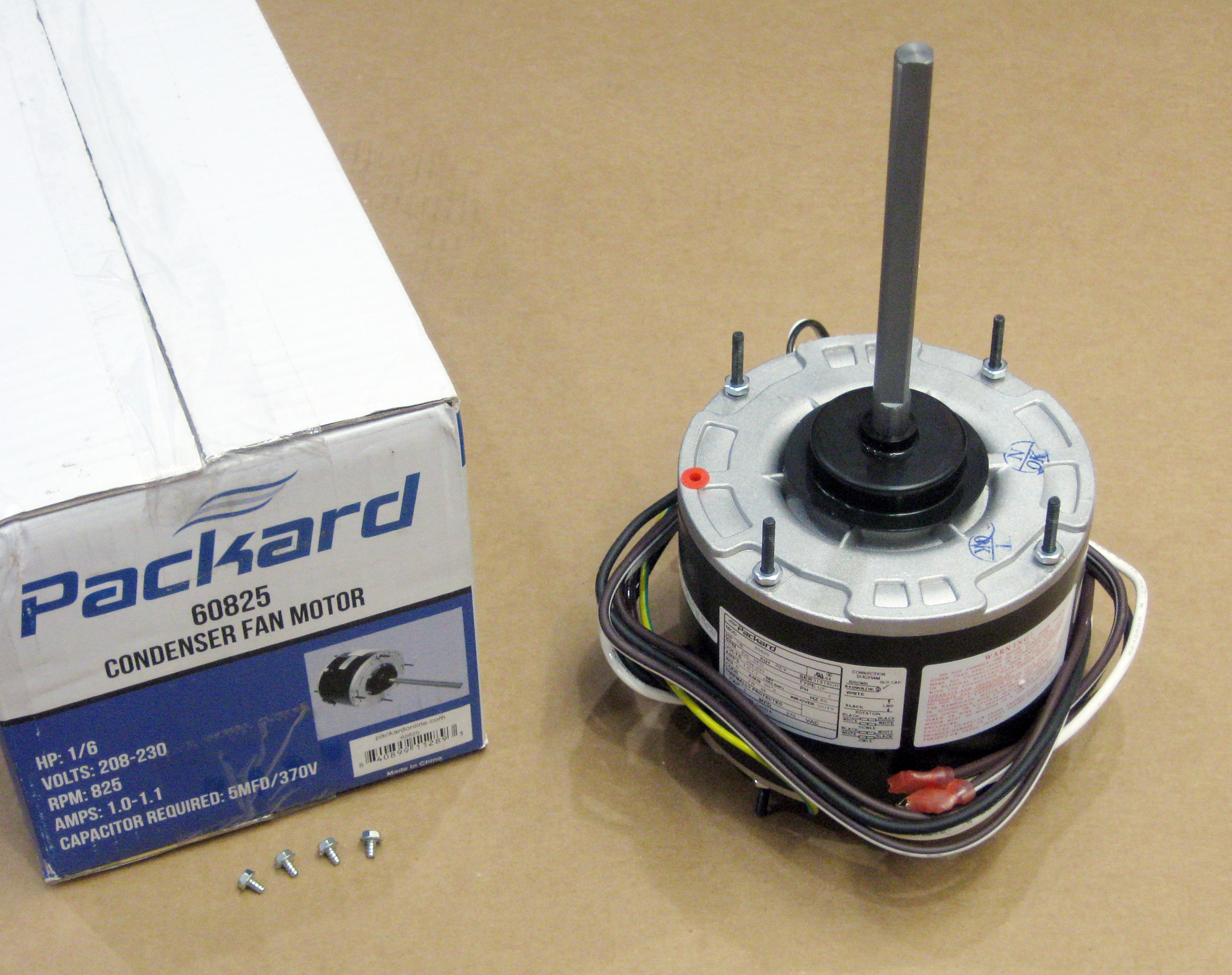 Air Conditioner Condenser Fan Motor 1  6 Hp 825 Rpm 5 8