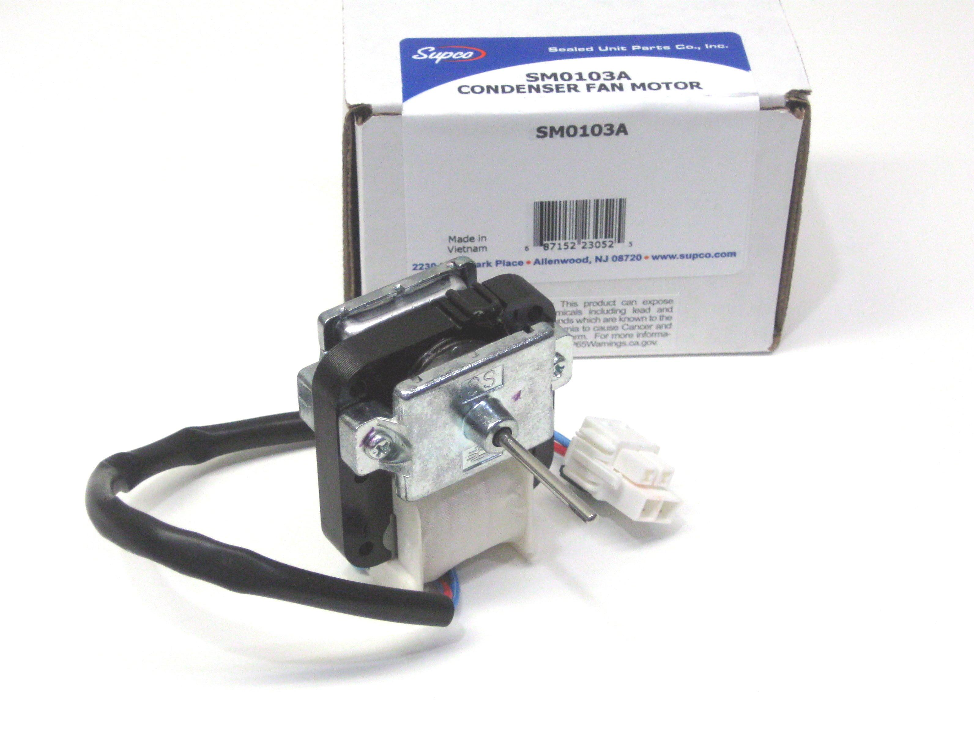 Supco Sm0103a Refrigerator Evaporator Fan Motor For