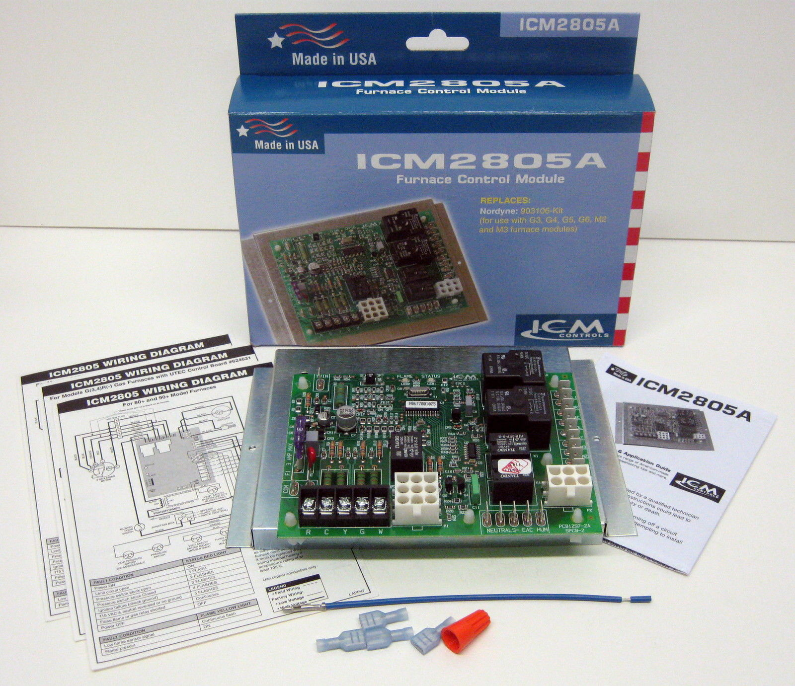 Details about ICM2805A ICM Furnace Control Board for Nordyne Intertherm on