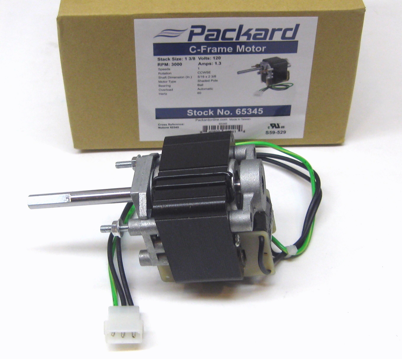 Packard 65345 Motor For Nutone Vent Bathroom Exhaust Fan 62345000 Ebay