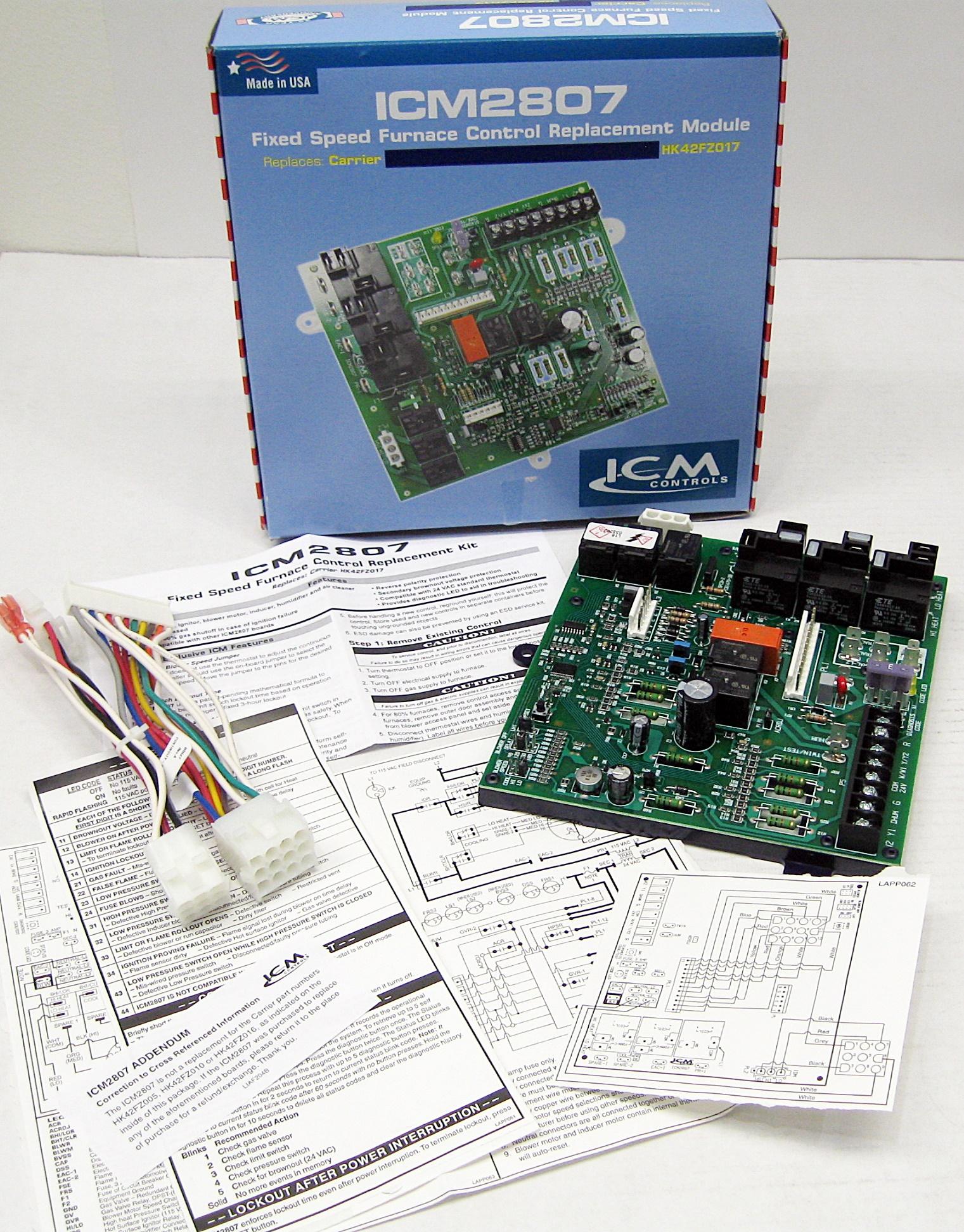 Circuit Main Board On Carrier Furnace Circuit Control Board Wiring