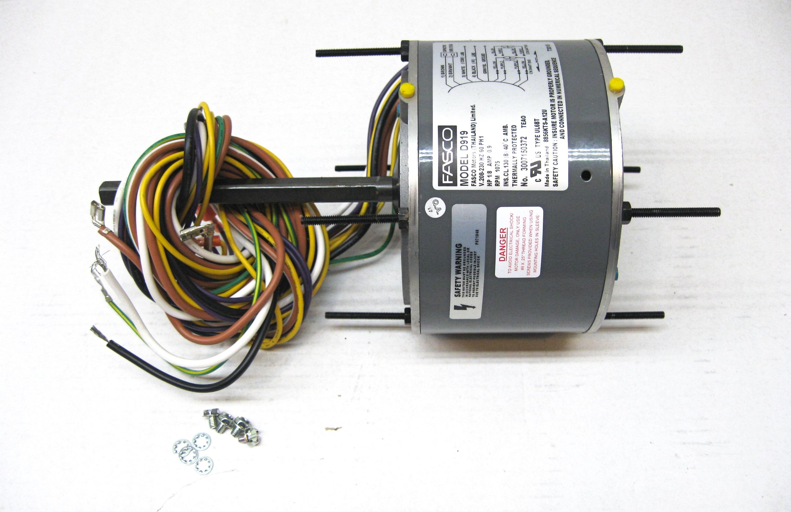 Fasco Condenser Fan Motor D919 1  8hp 208