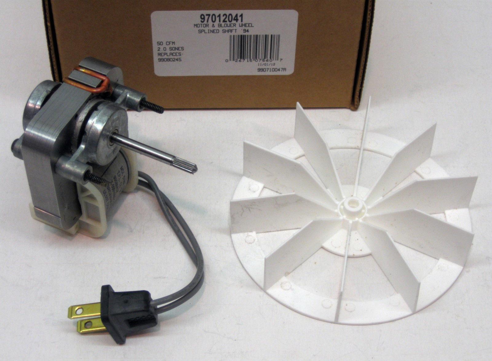 97012041 Broan Nutone Bathroom Vent Fan Motor Wheel 50 Cfm Repl 99080245 26715075607 Ebay